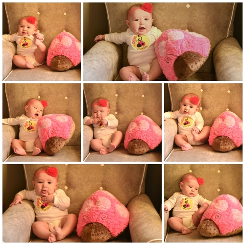 Kinsie 5 month collage