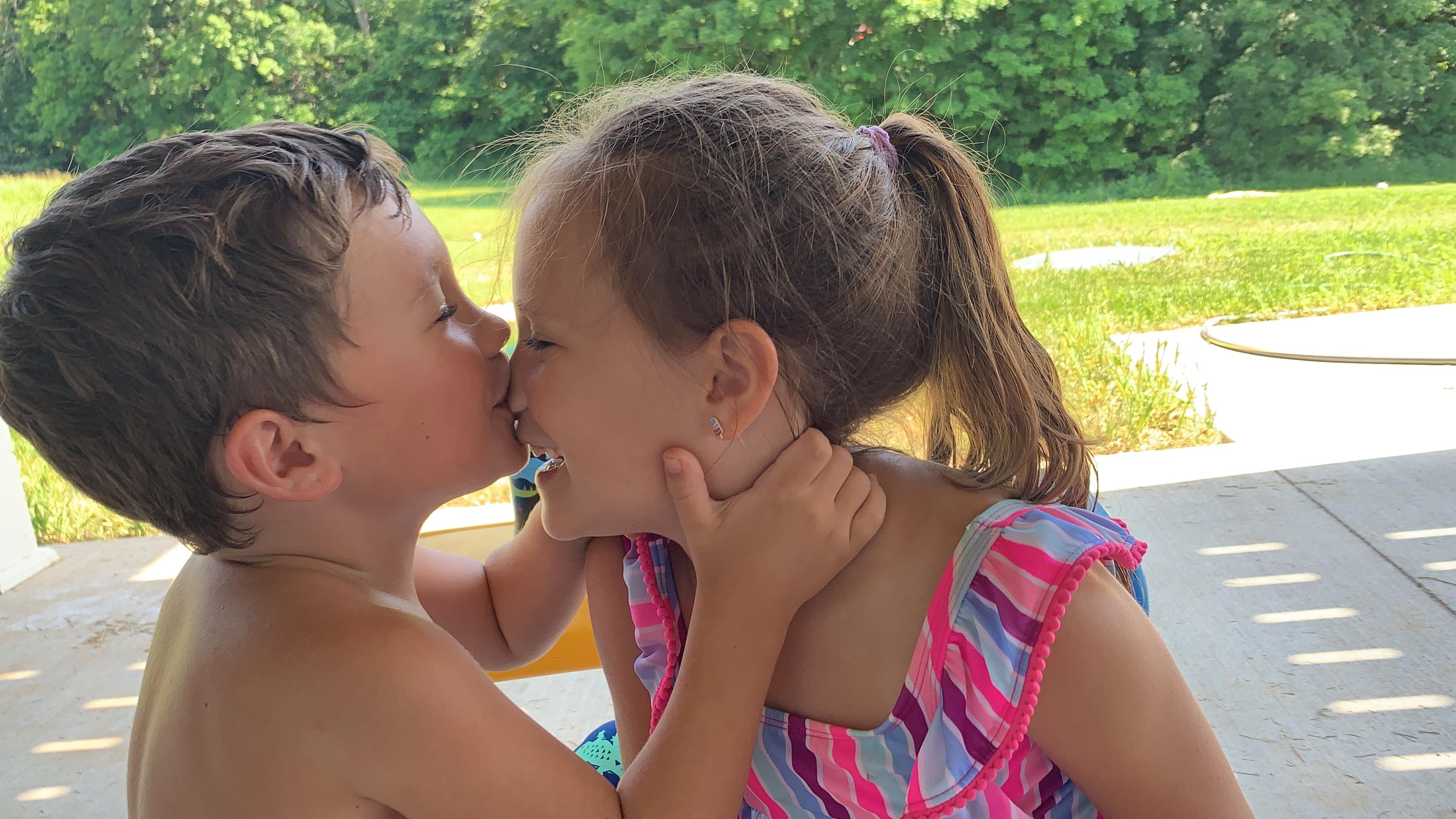 Outside-kiss